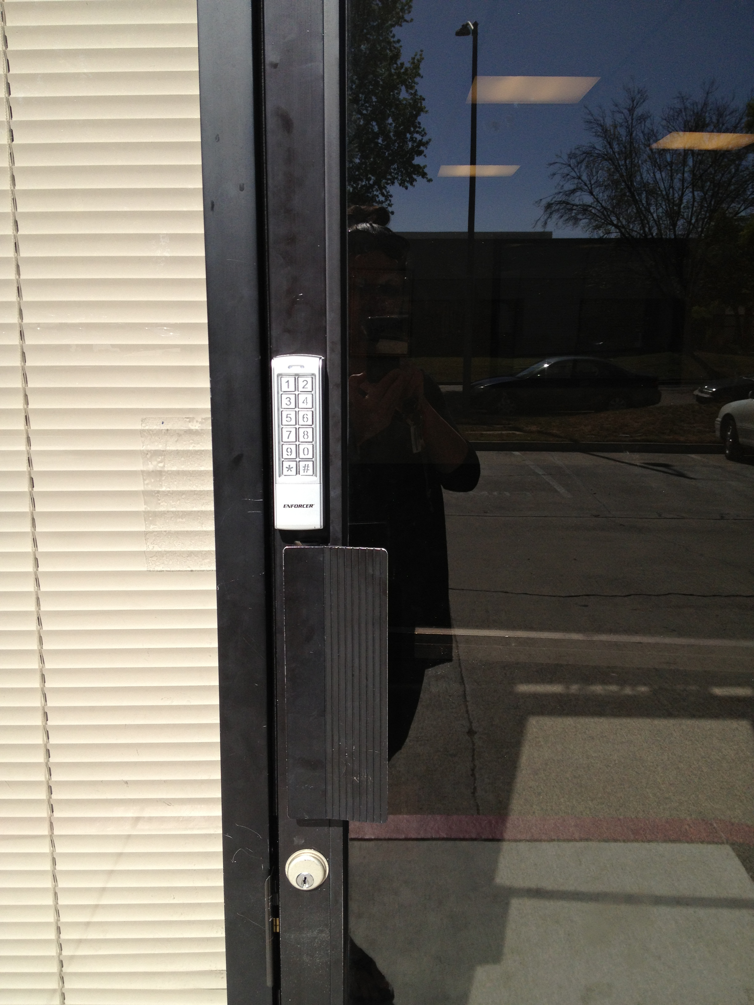 nickel the lever wave smartcode hardware commercial tustin gallery decorations featuring storefront knobs z smartkey locks electronic door satin